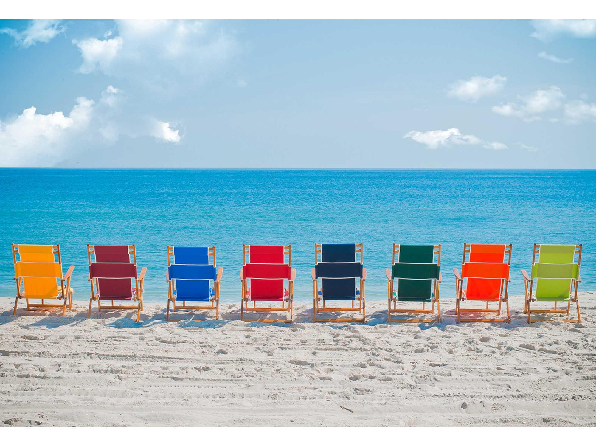 Frankford Umbrellas Oak Wood Beach No Foot Rest Lounge