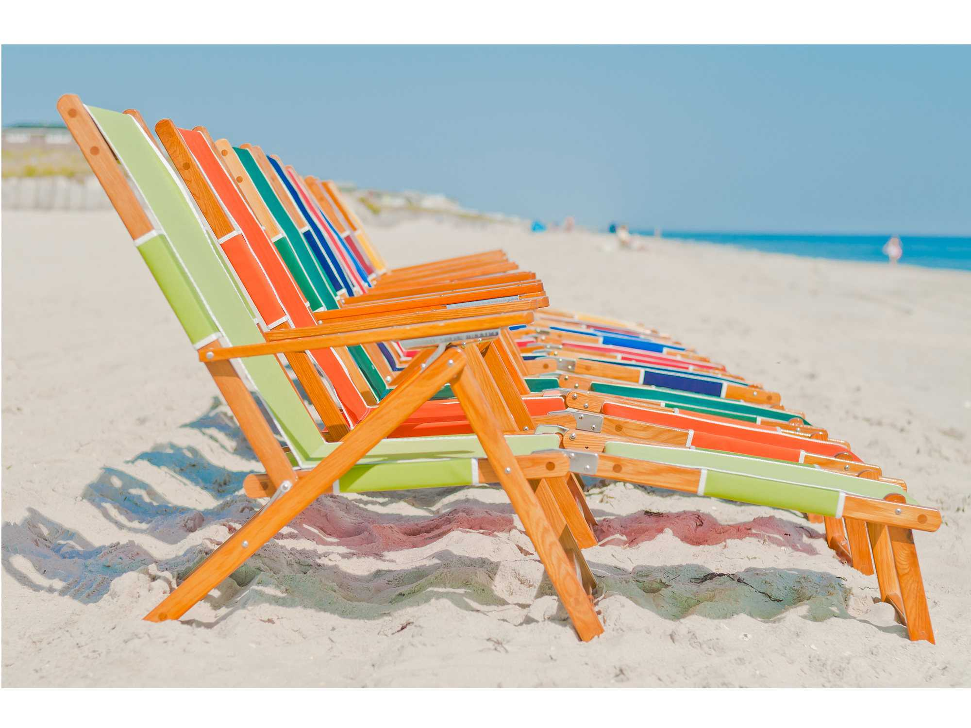 Wooden beach lounge chair -  1 021 70