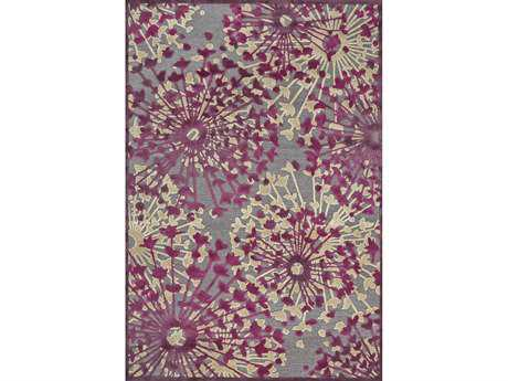 Feizy Saphir Rubus Transitional Gray Machine Made Synthetic Floral/Botanical 2'2'' x 4' Area Rug - 6013359FPEWLSVA22