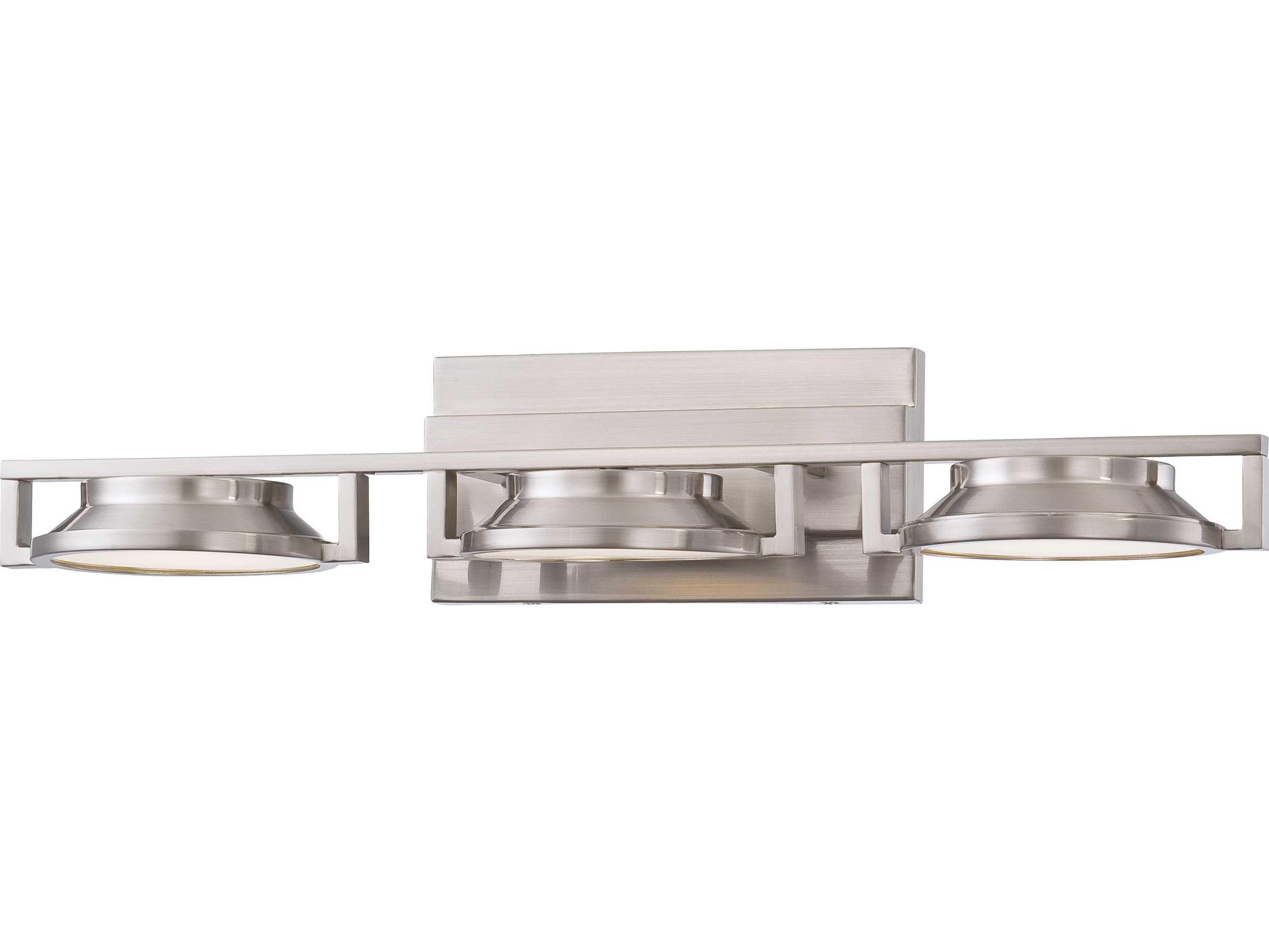George Kovacs Loupe Brushed Nickel LED Vanity Light P1103 084 L