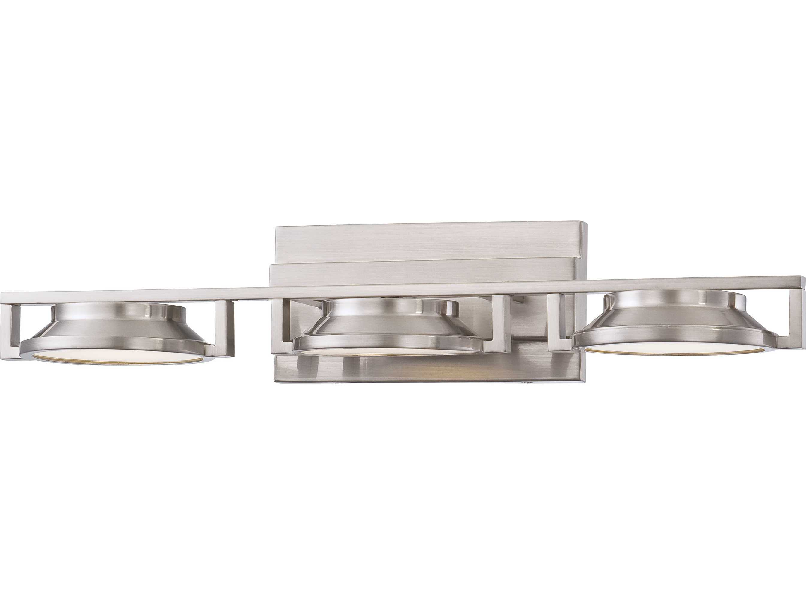 george kovacs loupe brushed nickel led vanity light. Black Bedroom Furniture Sets. Home Design Ideas