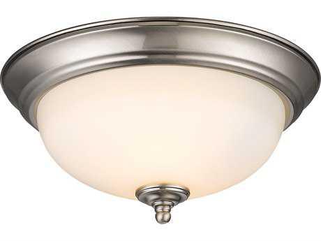 Golden Lighting Multi-Family Pewter Two-Light 11'' Wide Semi-Flush Mount Light with Opal Glass