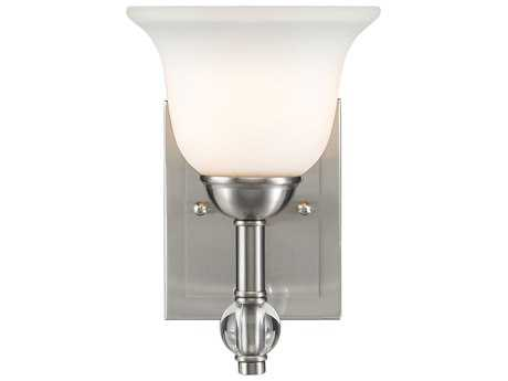 Golden Lighting Waverly Pewter Wall Sconce with Opal Glass