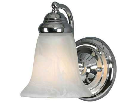 Golden Lighting Centennial Chrome Wall Sconce with Marbled Glass