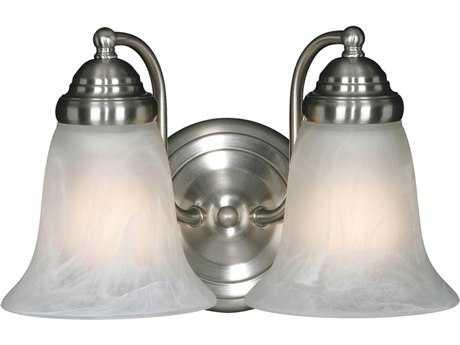Golden Lighting Centennial Pewter Two-Light Vanity Light with Marbled Glass