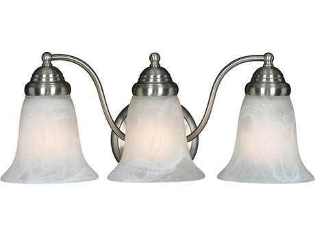 Golden Lighting Centennial Pewter Three-Light Vanity Light with Marbled Glass