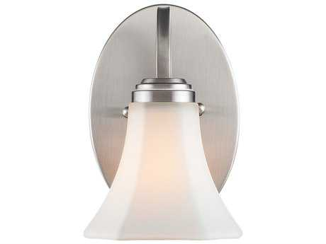 Golden Lighting Accurian Pewter Vanity Light with Opal Glass