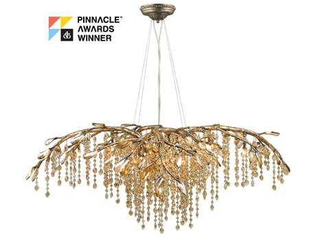 Golden Lighting Autumn Twilight Mystic Gold 12-Light 40'' Wide Chandelier