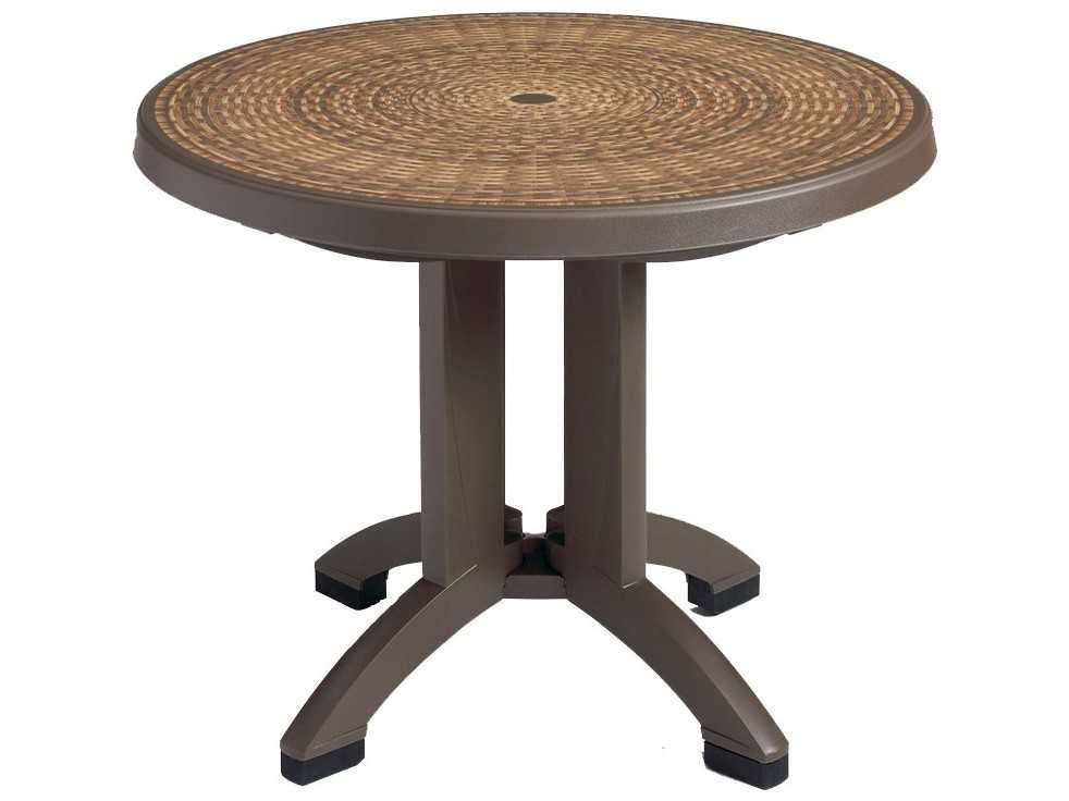 Grosfillex Havana Resin 38 Round Folding Table Us215037