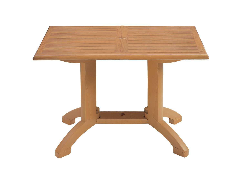 grosfillex winston resin 48 x 32 rectangular dining table us240808. Black Bedroom Furniture Sets. Home Design Ideas