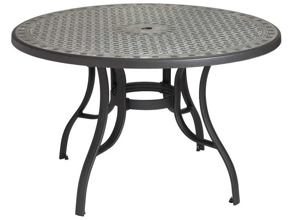 Grosfillex cordoba resin 48 round dining tables us526102 for Table exterieur grosfillex