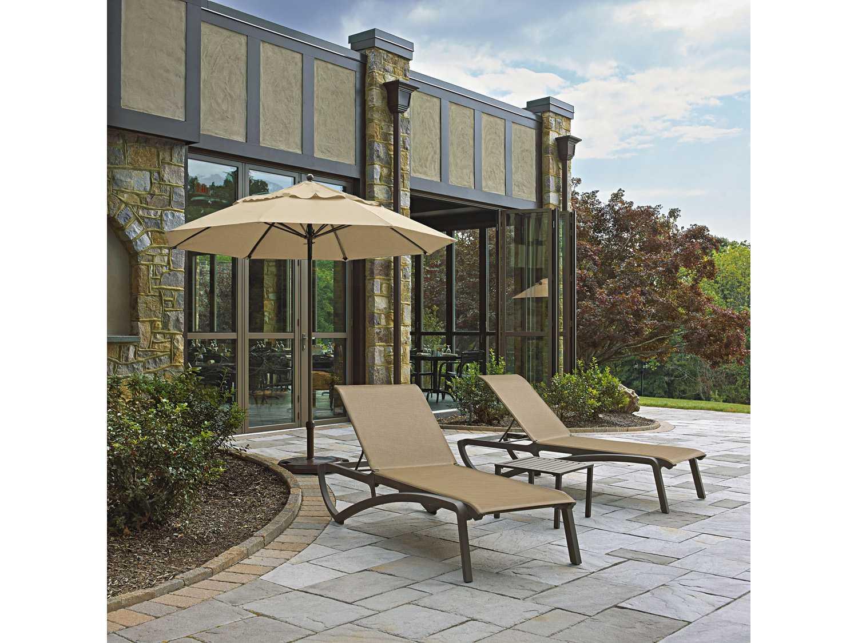 grosfillex sunset resin sling chaise lounge us634599. Black Bedroom Furniture Sets. Home Design Ideas