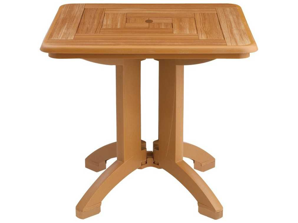 Grosfillex atlantis resin 32 square folding table sold in for Table exterieur grosfillex