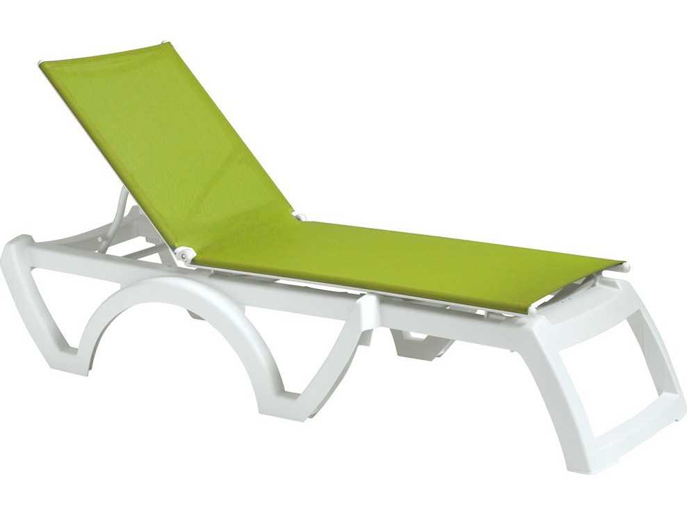 Grosfillex calypso resin sling white chaise sold in 2 for Chaise longue grosfillex