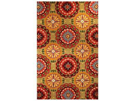 Harounian New Vision Transitional Brown Hand Made Wool Floral/Botanical 5' x 8' Area Rug - 10762