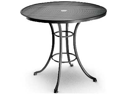 Homecrest mesh aluminum 36 round bistro table with - Aluminium picnic table with umbrella ...