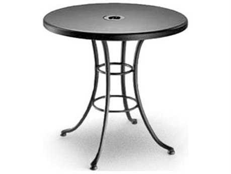 Homecrest Embossed Aluminum 30 Round Bistro Table With