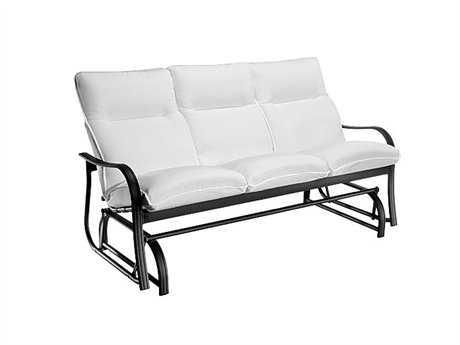 Homecrest Holly Hill Cushion Aluminum Arm Glider Sofa