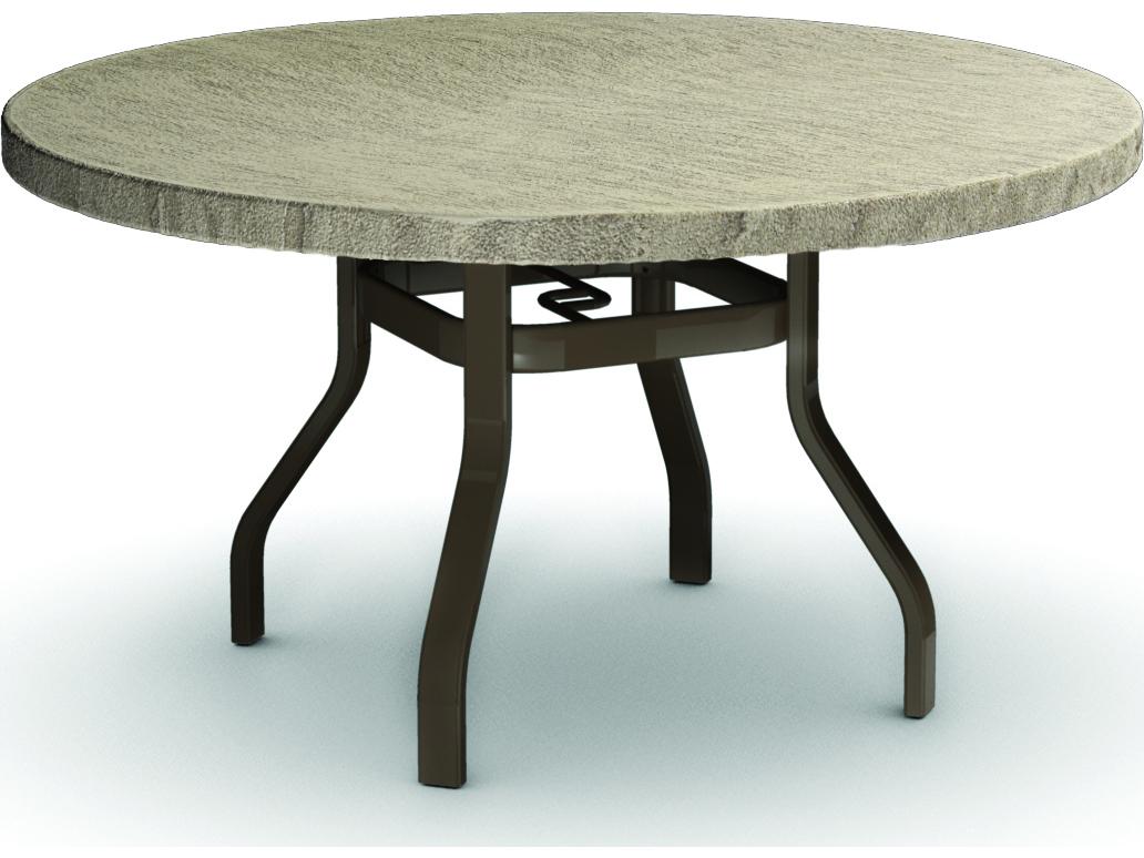 Com Homecrest Slate Aluminum 42 Round Dining Table 3742RDSLNU