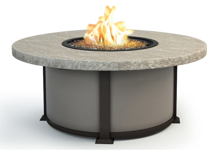Homecrest Valero Aluminum Natural Series 48 Round Coffee Fire Pit Table 4648l