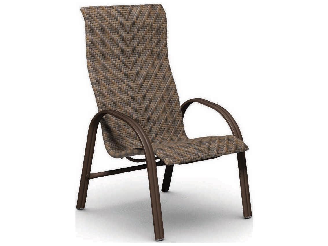 Homecrest Palisade Sling Steel Arm High Back Dining Chair