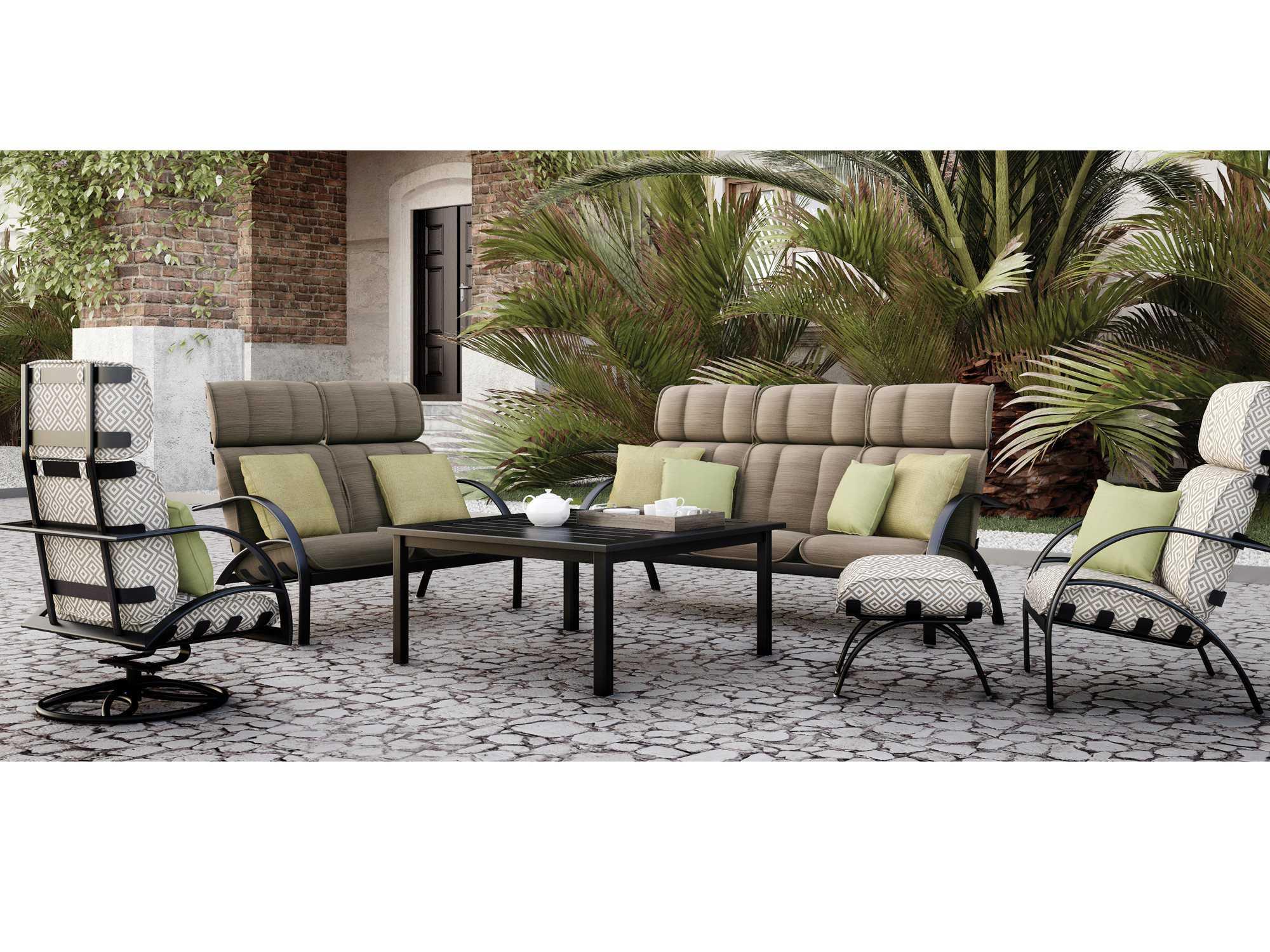 Homecrest Bellaire Aluminum High Back Cushion Arm Patio Lounge Chair B3990