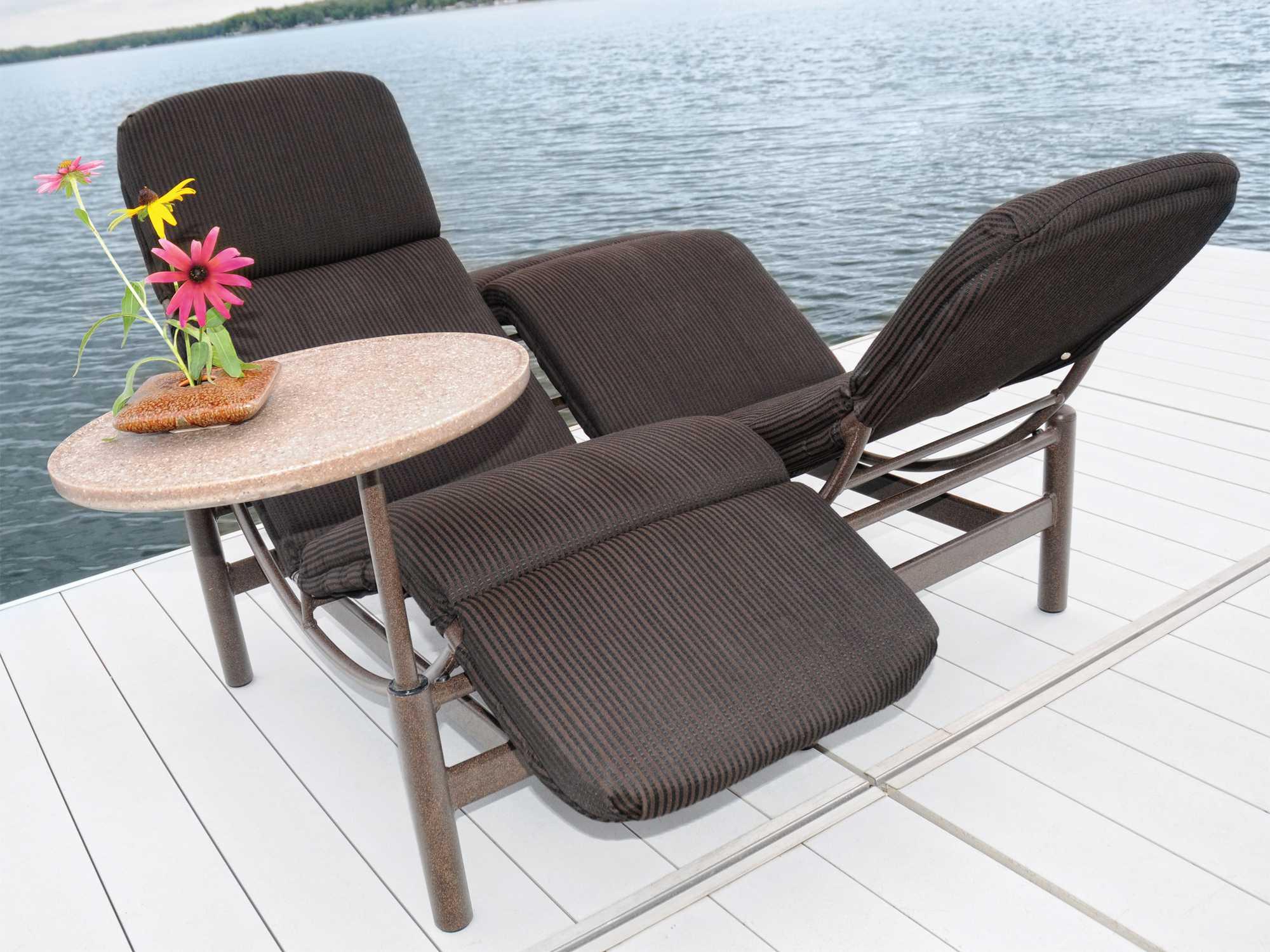 Homecrest Cirque Aluminum Cushion Side Lounge Chair 6020A