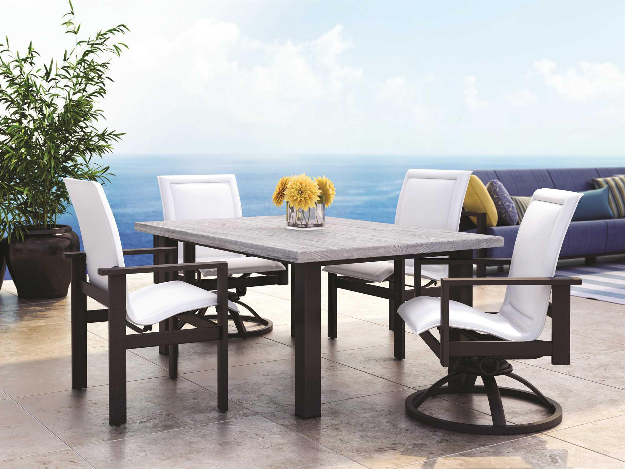 Homecrest Elements Aluminum Low Back Dining Chair
