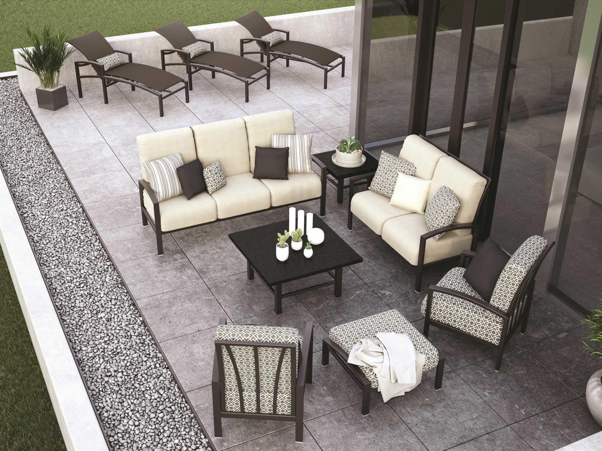 Homecrest Havenhill Cushion Aluminum Sofa 4A43B