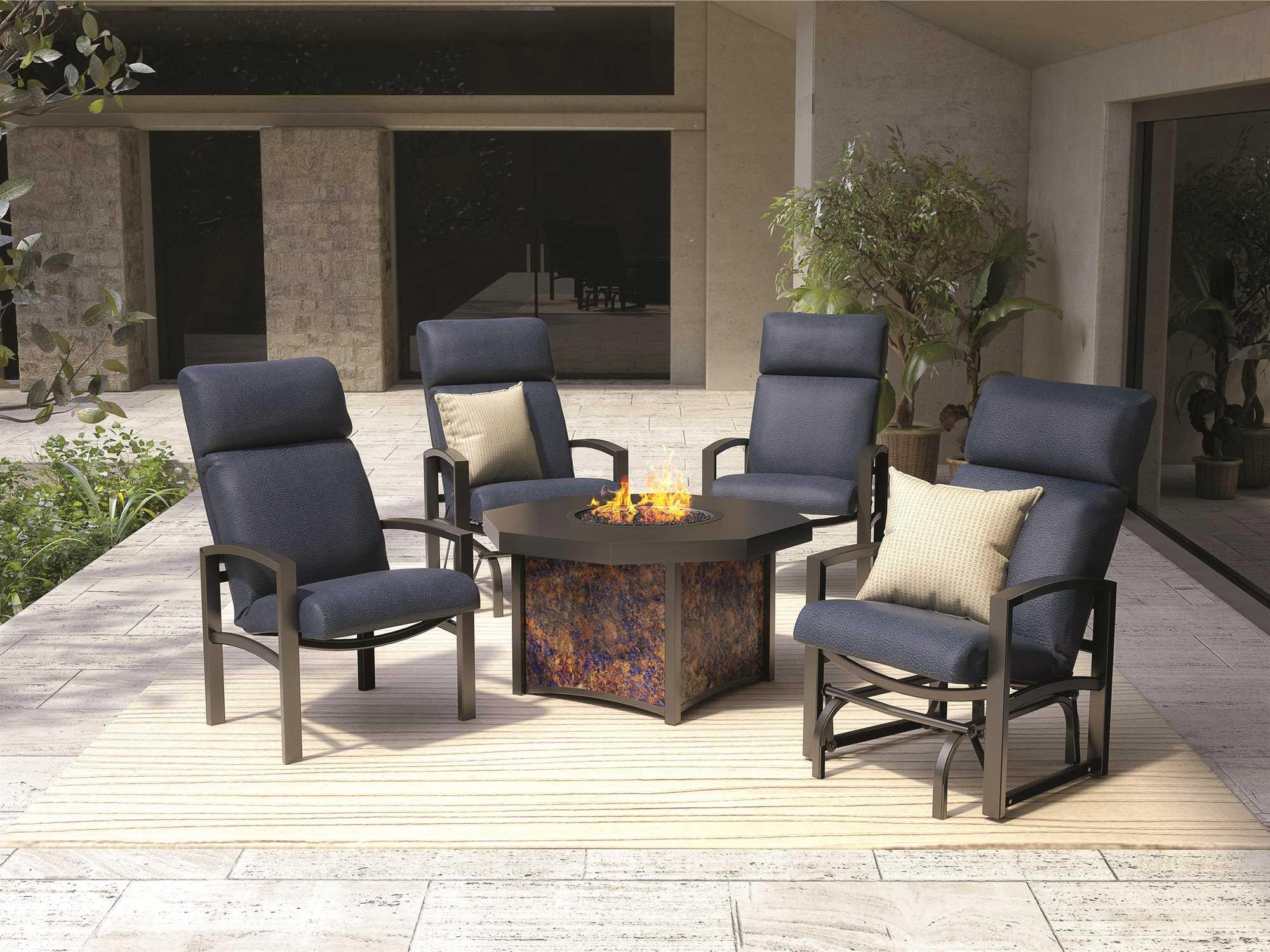 Homecrest Havenhill Cushion Aluminum High Back Dining Chair 4A47F