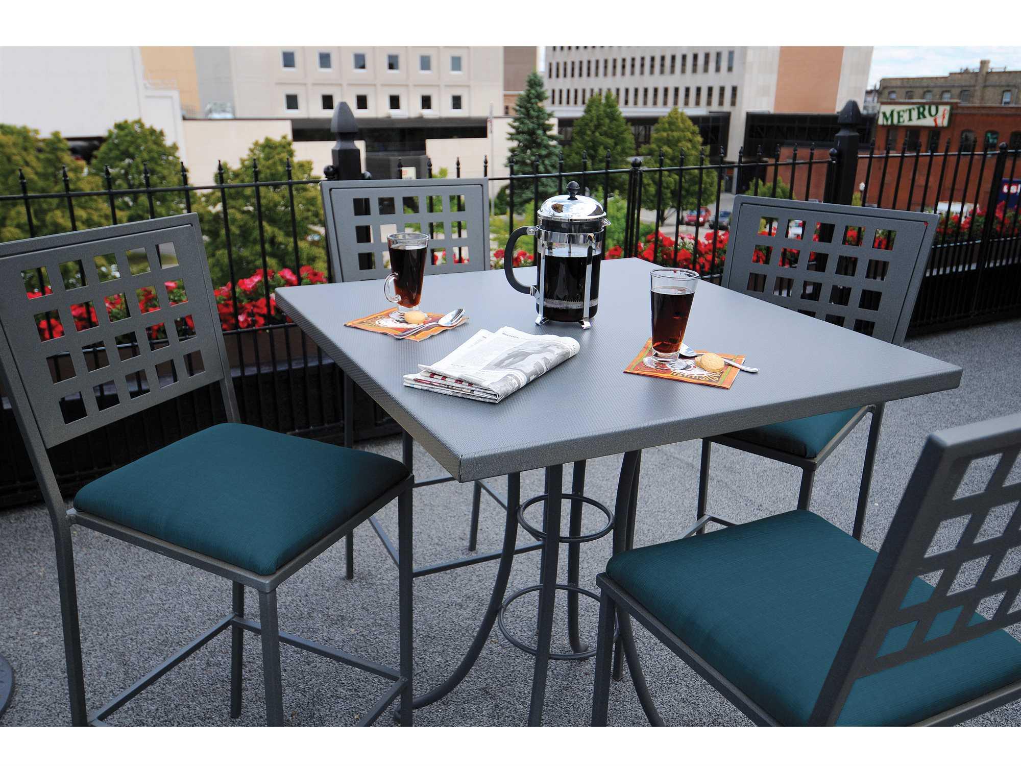 Outdoor Dining Manhattan Patio Set Grey 5 Pieces
