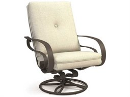 Homecrest Emory Cushion Quick Ship Aluminum High Back Swivel Rocker Chat Chair