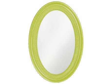 Howard Elliott Ethan 21 x 31 Glossy Moss Green Wall Mirror