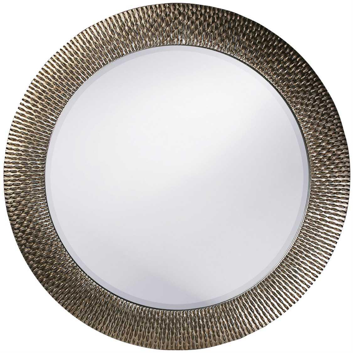 Howard elliott bergman 54 round silver wall mirror 21117 for Round silver wall mirror