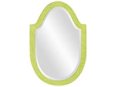 Howard Elliott Lancelot 21 x 32 Glossy Moss Green Wall Mirror