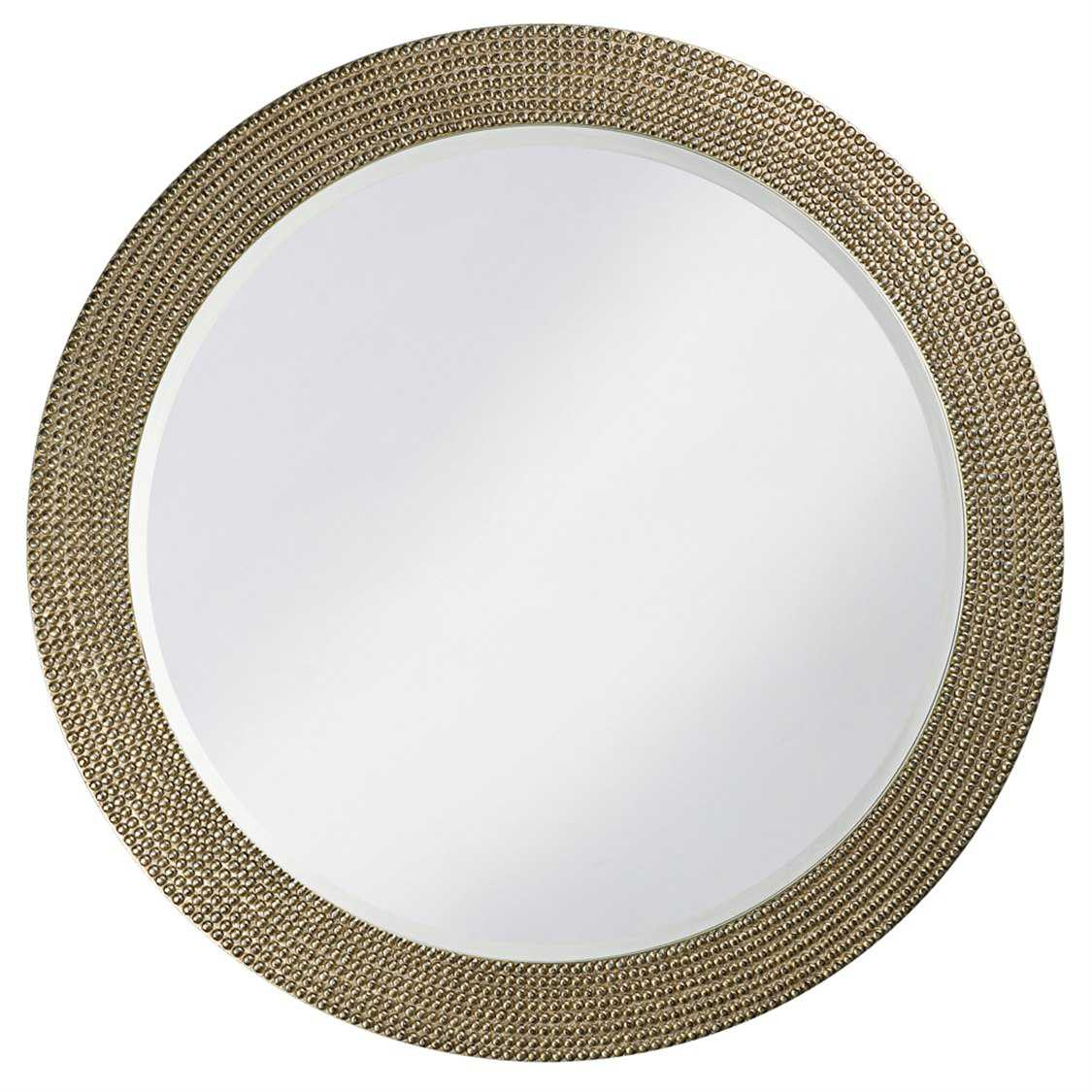 Howard elliott lancelot 42 round silver leaf wall mirror for Round silver wall mirror