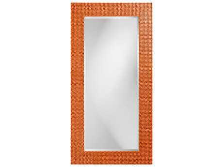 Howard Elliott Lancelot 30 x 60 Rectangle Glossy Orange Wall Mirror