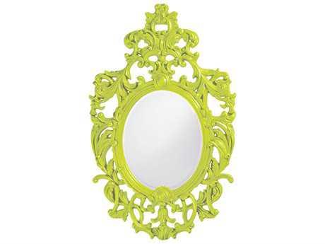 Howard Elliott Dorsiere 31 x 51 Green Wall Mirror