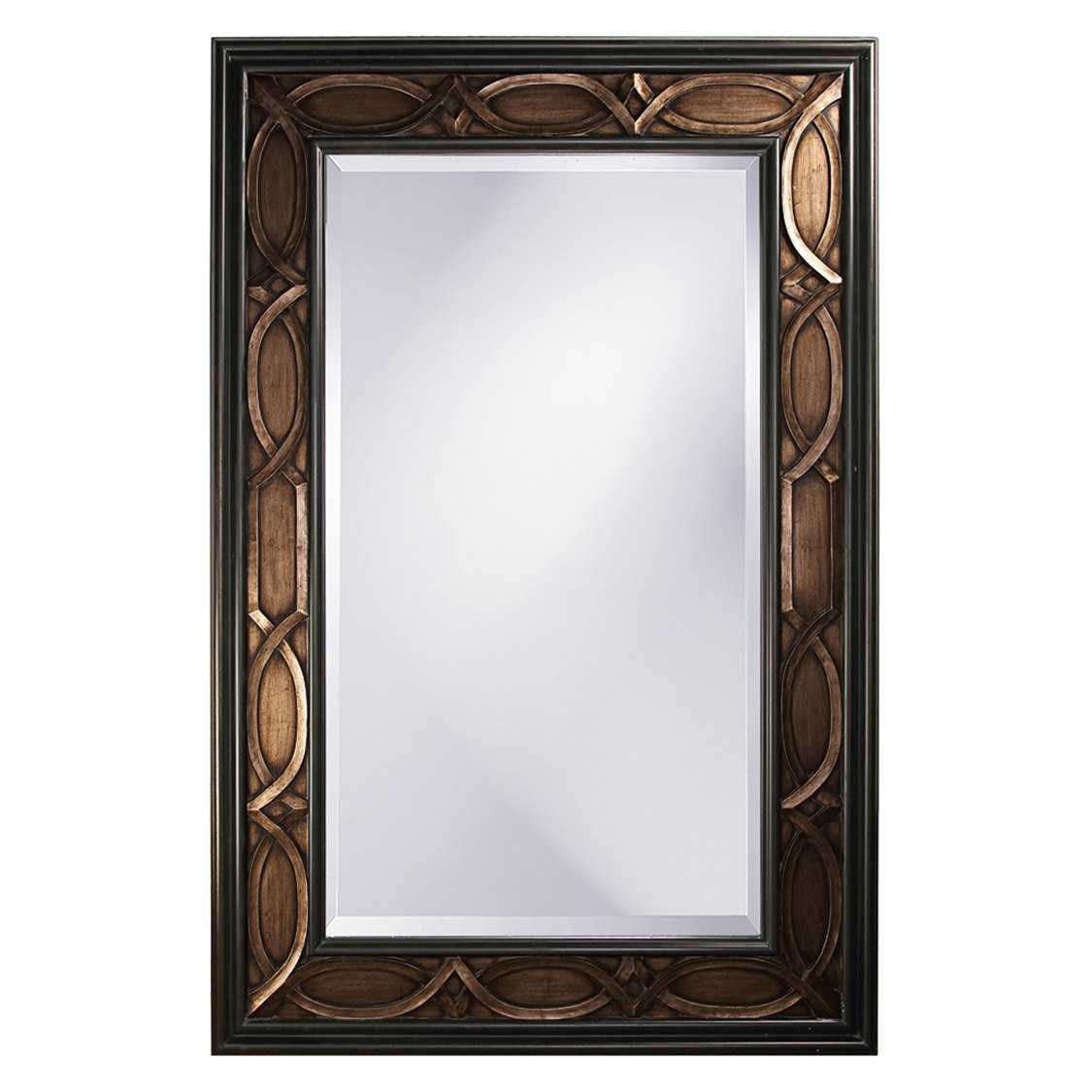 Howard elliott charles 60 x 90 brown wall mirror 43070 for Miroir 60x90