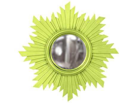 Howard Elliott Euphoria 21 Round Green Wall Mirror