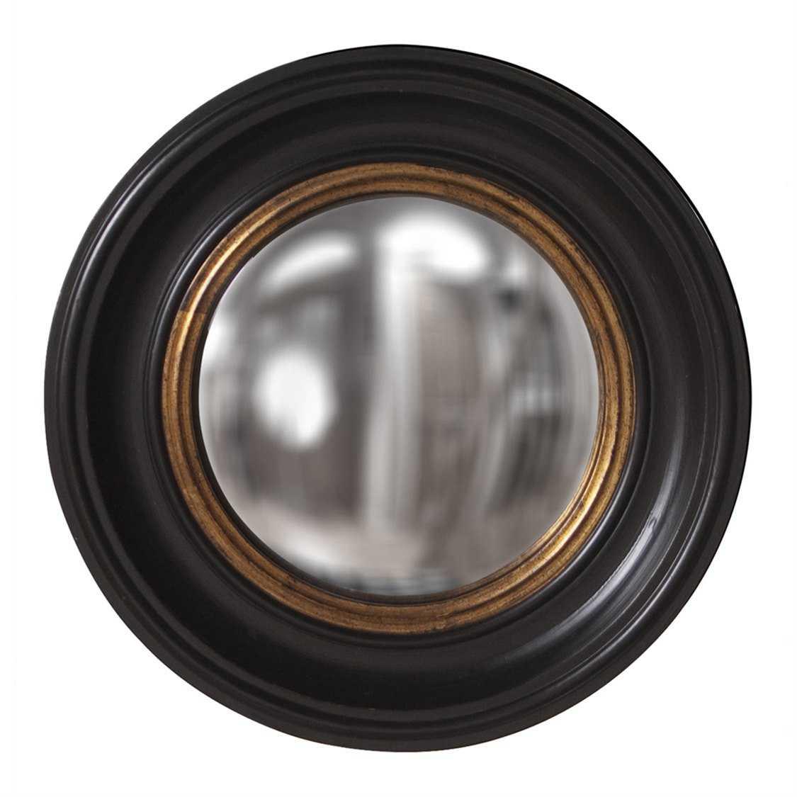 Howard elliott albert 21 round black wall mirror 56010 for Round black wall mirror