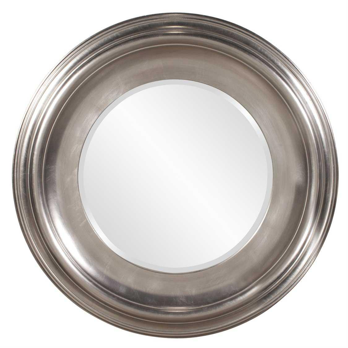 Howard elliott christian 39 round silver wall mirror 56084 for Round silver wall mirror