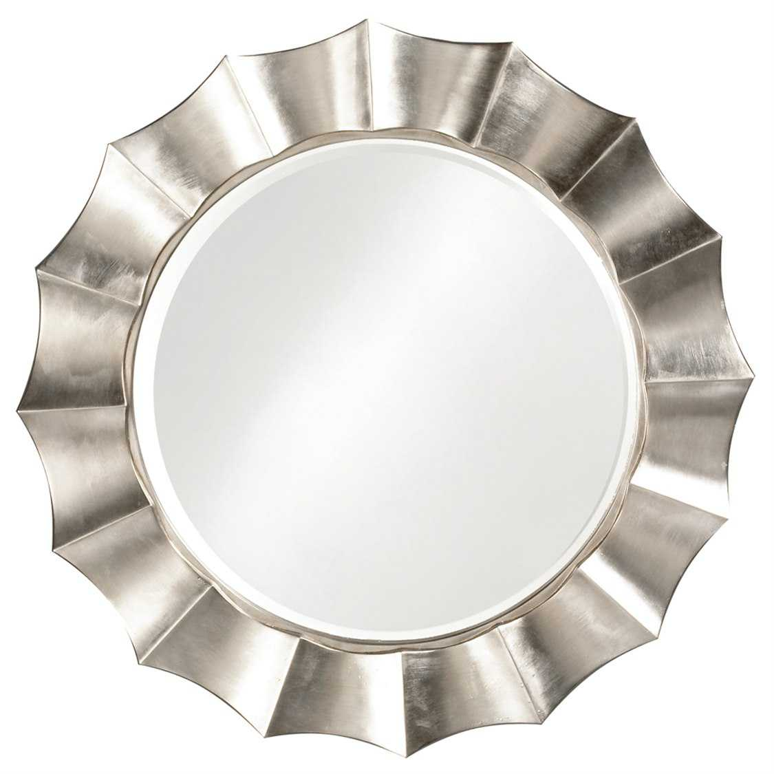 Howard elliott corona 41 round silver wall mirror 6019 for Round silver wall mirror