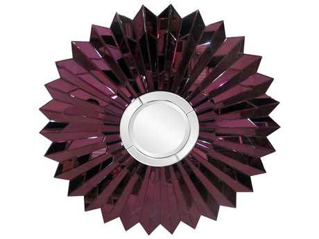 Howard Elliott Wilmette Amethyst 47'' Sunburst Wall Mirror