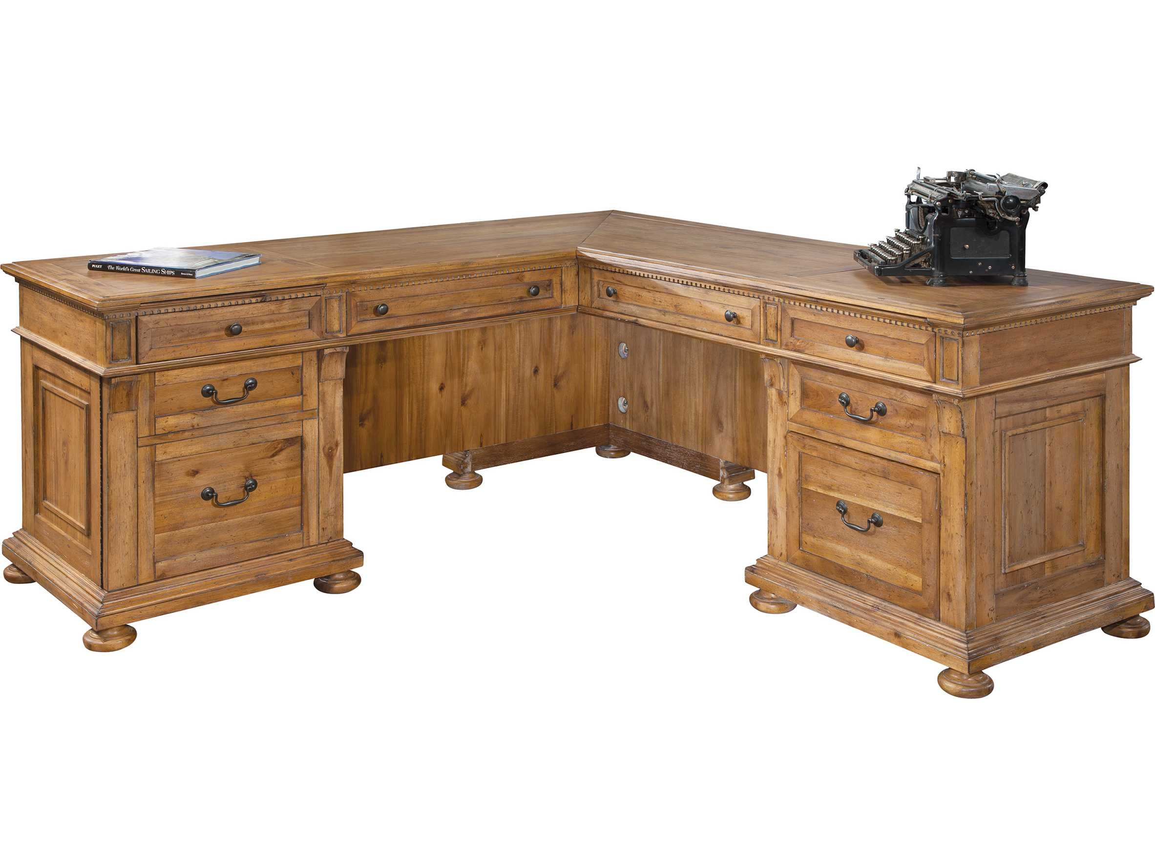 Hekman fice Express Relaxed Classic Executive L Desk