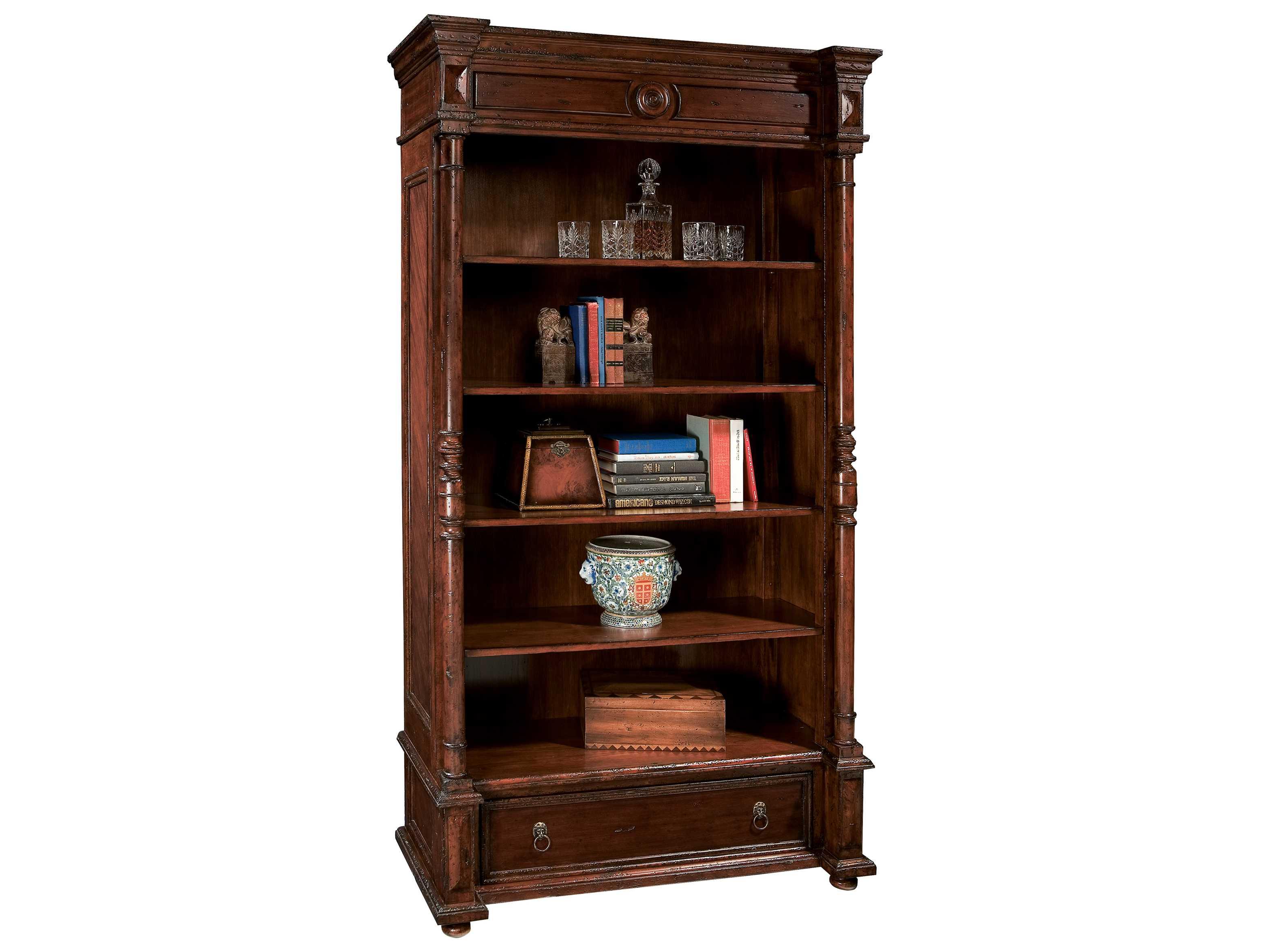 Hekman Havana 84 Inch Tall Classic Bookcase 8 1223