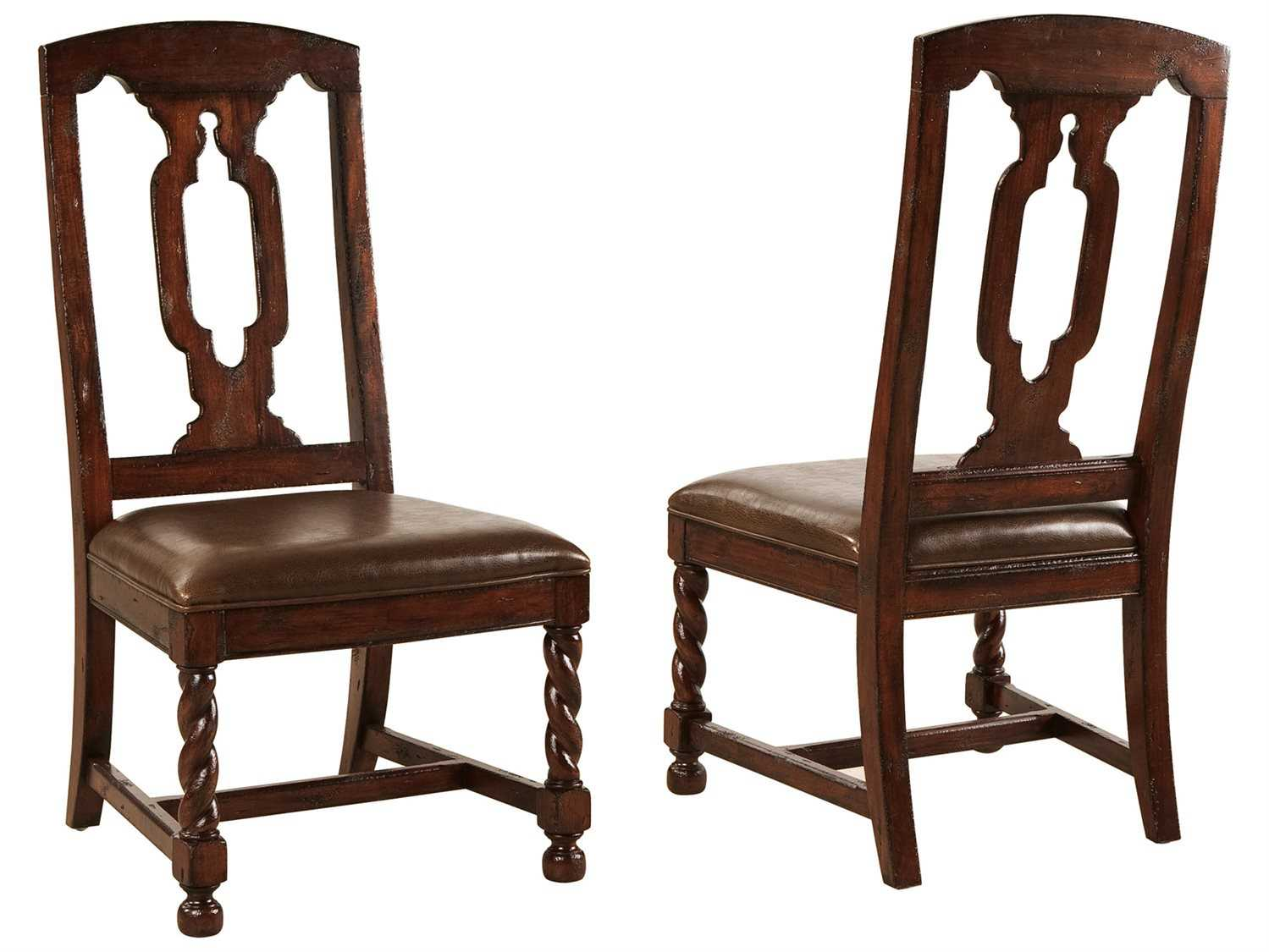 hekman havana tall back leather seat side dining chair 8 1234. Black Bedroom Furniture Sets. Home Design Ideas