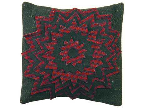Homespice Decor Pillows Starburst Red 12'' Square Pillow