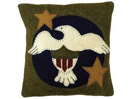 Homespice Decor Pillows Freedom Olive 12'' Square Pillow