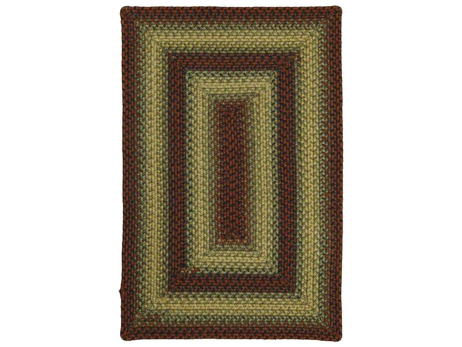 Homespice Decor Ultra Wool Braided Flagstaff Red